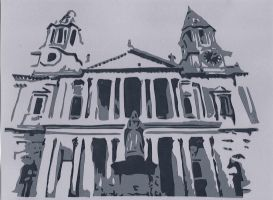 Saint Paul's Cathedral in London by wandering-pen