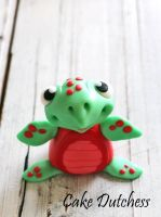 Fondant Turtle - Free video tutorial by Naera