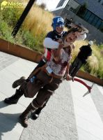 Lara Reborn with Captain America by Madenice