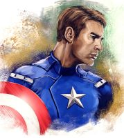 Captain America by brianlaborada