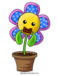 Com: Smiling flower by Squitopus