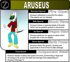 Brawl Movesets: Aruseus Parker by ZarelTheWindDragon
