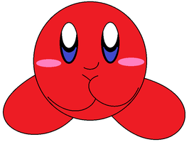 red kirby by luisbonilla