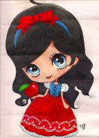 snow white chibi by toxic-pink-ink