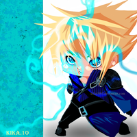 cloud strife chibi by kika1983