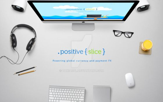 Positive Slice logo + website by taniacpl