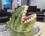 Jaws: the Great White ...Melon by CheezieSpaz
