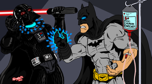 Vader vs Batman by ZZoMBiEXIII