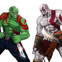 Player Select: Drax VS Kratos by Garoooooh