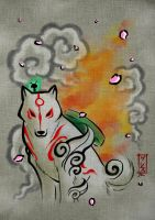 Amaterasu Okami FanArt Gless by GlessManias