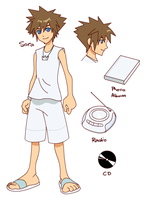 Sora Model Sheet by gndagnor