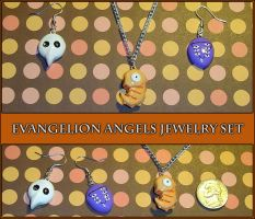 Evangelion Angels Jewelry Set by YellerCrakka