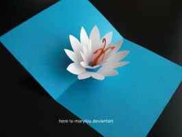 Lotus PopUp Card by Here-is-MaryLou