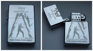 JAMES BOND - FOR YOUR EYES ONLY - engraved lighter by Piciuu
