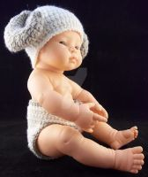 Crochet Ram Beanie Diaper Cover Baby Set by ImNuckingFuttsToni
