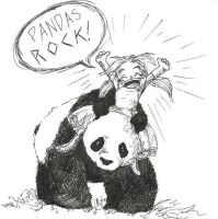 Pandas ROCK by crescentlady