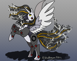 Robot Alicorn GLaDOS by bibliodragon