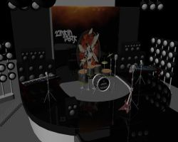 my intial level modeling of stage by sharonmudz