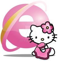 Hello Kitty - IE7 icon by 3dera