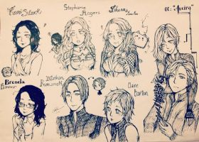 Avengers genderbend + OC Aveira by teapartyblues
