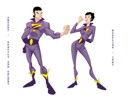 Wonder Twins diff lineart by cheeks-74