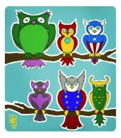 Avengers Owls by TokisMindPalace