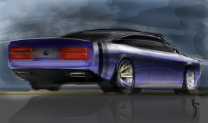 Retro Muscle Car Speed Paint by reedesigner