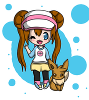 Rosa and Eevee by SwEeTxPiNk96