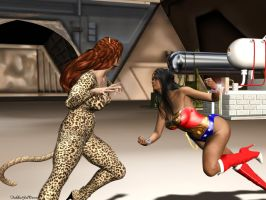 Catfight 01 by TrekkieGal