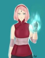 Sakura Haruno- The Last: Shannaro!! by Railyce
