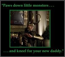 Loki-Gaga #1: Kneel This Way by Pericynthi-Beth17