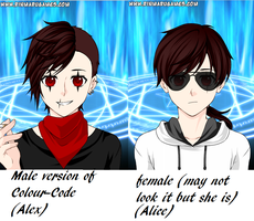 Male and Female ColourCode by XxColourCodexX