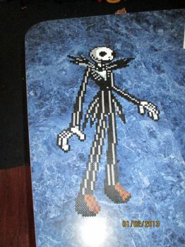 Perler Jack Skellington by rushtalion