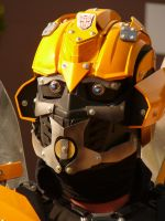 Cosplay Bumblebee's face by copperarabian