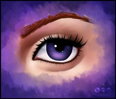 Purple Eye by TawnART