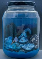 Colour Jars Blue by KatarniaHolbart