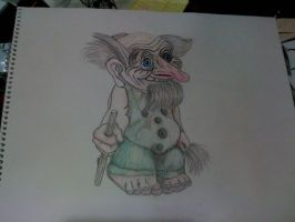 troll, knome on paper by kwpatrick