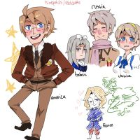 hetalia doodles by sketchette