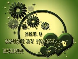 15 brush set 9 by 7nany