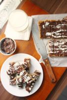 Chocolate and Banana Flapjacks by sasQuat-ch