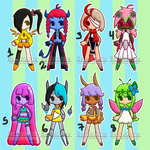 [CLOSED] Colorful Adoptables by Scribbling-Mima