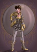 Victorian Steampunk Pinup by CharReed