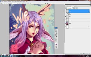WIP - deer by yaichino