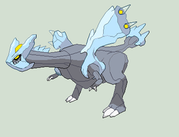 Pokemon - Kyurem Large Sprite by Dictator-Heartless