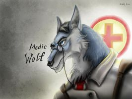 TF2 - Medic Wolf by MaryDec