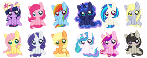 chibi ponies by HeartRoyali
