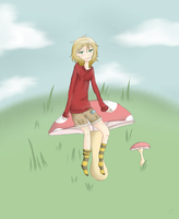 Thalia On a Mushroom by the26owls