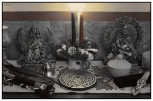 Altar Arrangment by LadyAutumnDesigns