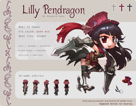 Ref. Sheet: Lilly Pendragon by marlying