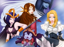 League of Legends Girls - Fourth Group - (A - Z) by Dweynie